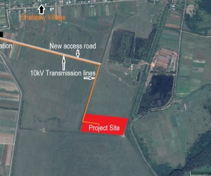 Close-in satellite image